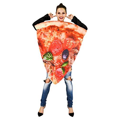 flatwhite Pizza Food Unisex Adult Costume (Slice Pizza)