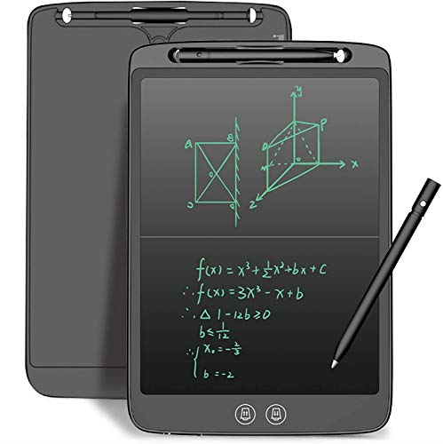 LCD Writing Tablet 12 Inch with Newest High-Tech Split Screen Writing and Delete Function Electronic Drawing Tablet, Reusable Drawing Pad Birthday Gifts for Kids and Adults at Home, School and Office