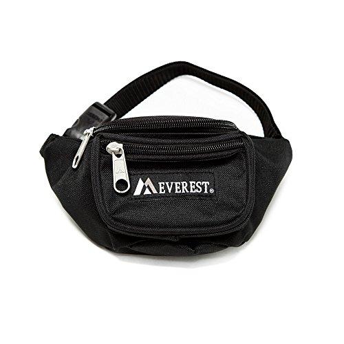 Everest Signature Waist Pack - Junior, Black, One Size