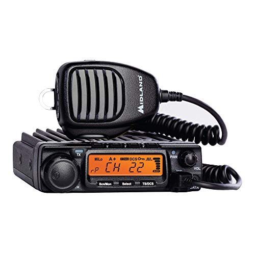 Midland 40 Watt GMRS MicroMobile Two-Way Radio - Long Range Walkie Talkie, 8 Repeater Channels, 142 Privacy Codes