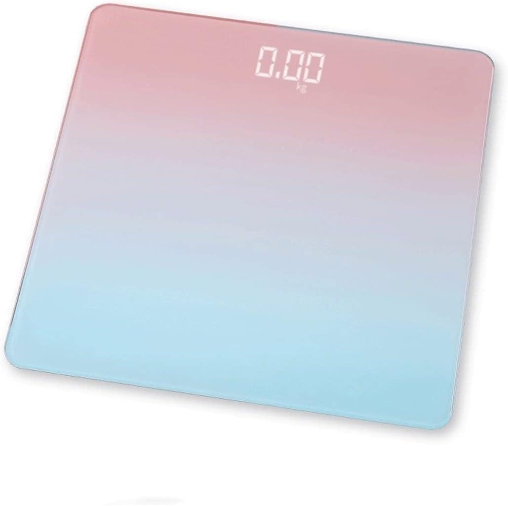 Wangchngqingc Balanza Peso Corporal, Inteligente escala de peso corporal color de los gradientes báscula de baño escalas del suelo de cristal DIRIGIÓ Escala de baño Digital Equipos de excavación USB C