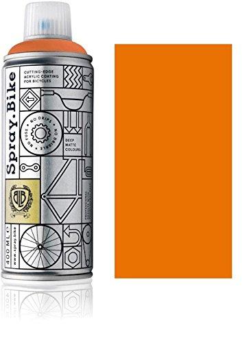 Fahrrad Lackspray in versch. Farben - Keine GRUNDIERUNG notwendig - Acryllack/Lack Spray in 400 ml Spraydose, Matt- und Klarlack Optik möglich (Orange Meise Orange, Matt)