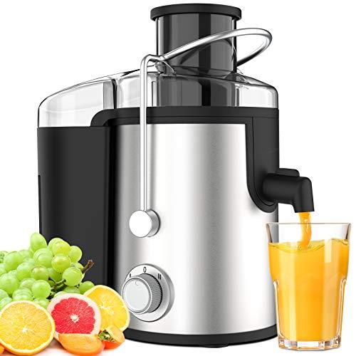 Centrifuga Frutta Verdura Professionale Due Velocità Senza BPA Acciaio Inox Leva di Sicurezza Separatore Automatico Anti-Surriscaldamento di ELEHOT