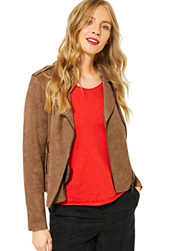 Street One Damen 211232 Kunstlederjacke, Natural Camel, 40