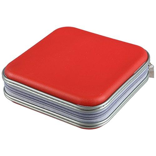 TOOGOO(R)) Bunt Aufbewahrungskoffer mit 40 Stuecke Fuer DVD/CD Disc Mitnehmbar Etui Tasche (Farbe: zufaellig gesendet)