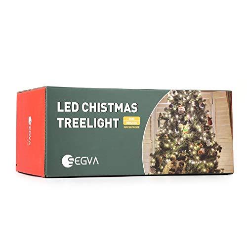 SEGVA 23m LED Christbaumbeleuchtung, 360er LED Lichterkette für Weihnachten, Hochzeit, Zuhause, Garten, Balkon, Terrasse - Warmweiß