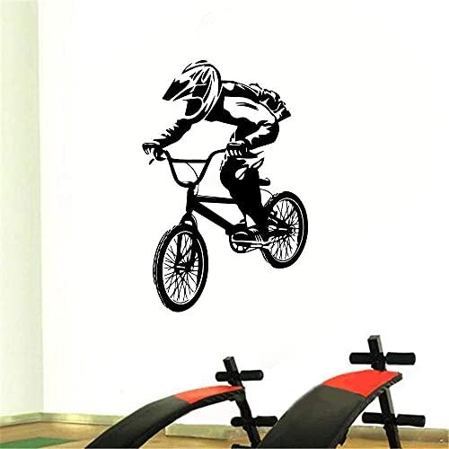 Ciclismo Uomo Intagliato Rimuovi Adesivi Murali Palestra Camera Da Letto Divano Sfondo Muro 56X86.5Cm