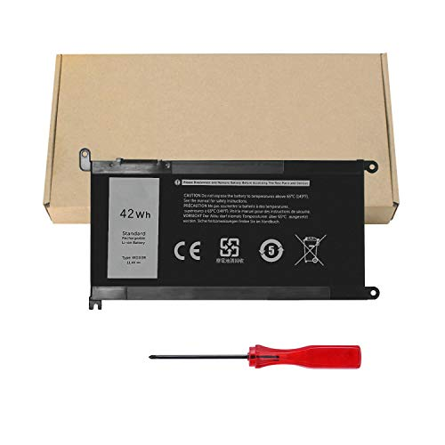 GDORUN WDX0R Laptop Battery for DELL Inspiron 15 5565 5567 5568 5578 5579 7560 7570 7573 7579 7580 7569 5368 5378 5379 7368 7378 7460 5765 5767 5770 Vostro 5468 5568 Latitude 3480 3580 3189 3379 42Wh