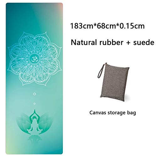 Yoga Mat Yoga Mat Printing Ultra-Thin Folding Non-Slip Cloth Towel Sweat-Absorbent Yoga Portable Travel Pad Pilates 183 Cm*68 Cm*0.15 Cm Gray