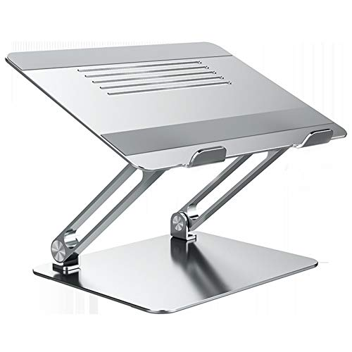 ZGZFEIYU Laptop Stand, Ergonomic Height Angle Adjustable Laptop Holder, Laptop Riser with Heat-Vent, Portable Air-Ventilation Laptop Stand Holder for Compatible All Laptops 11-17'