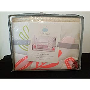 Cloud Island Little Sprout 4 Pc Crib Set Coral Pink Lemonade Baby Baby Bedding