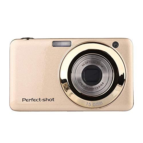 YLFGSLEP 2000-Megapixel-Digitalkamera 2,7-Zoll-5-fach-Kamera mit optischem Zoom, Makrofotografie, HD-Minikamera