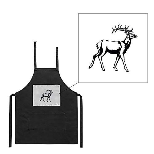 Mygoodprice Schürze für Küche, Grill, Jagd, Wildschwein, 3 Bedruckt