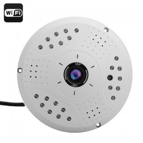 360 gradi IP Fisheye fotocamera - 3 Megapixel, 1/2.5 pollici CMOS, supporto ONVIF, WIFI, P2P, POE, la riproduzione remota
