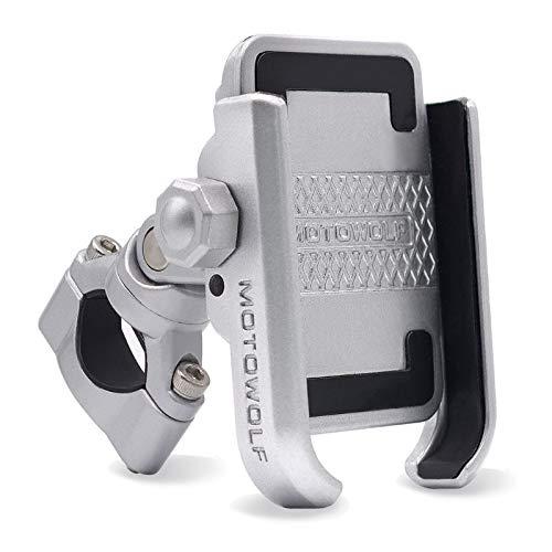yywl Soporte universal para teléfono móvil, 360 grados, aleación de aluminio, para manillar de motocicleta, soporte para teléfono