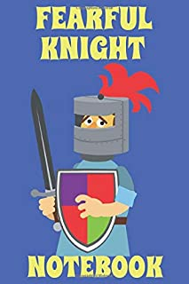 Fearful Knight Notebook  - Blue - Yellow - College Ruled
