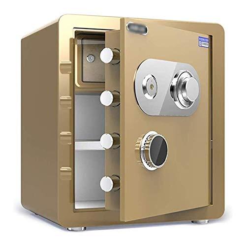 ZBM - ZBM kluis, mechanische wachtwoord-safe, klein, vuurbestendig, waterdicht, anti-diefstal, onzichtbare safe, alle stalen box, mechanische blokkering, geldbewaarbak, Strongbox wandtroso Tyrant goud.