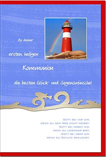 metALUm Karte zur Kommunion LEUCHTTURM | 1211004S