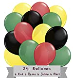 Jamaica Rasta Reggae Party Balloon Latex 24 Pack Bundle Color Red Green Yellow Black Ballons bob marley decor rasta reggae jamaican party theme decorations party event Supplies