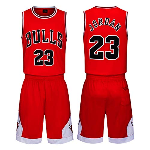 Th-some NBA Maglia - NBA Bulls Jordan No.23, Lakers Bryant No.24, Lakers James No.23, Ragazzi Ragazze Basketball Maglie Top e Shorts di Chicago Bulls, Los Angeles Lakers