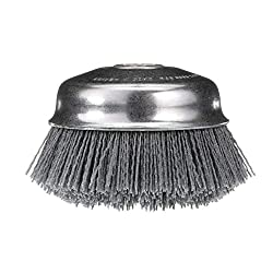 small Osborn 32138 ATB Polished Nylon Cup Brush, Round Edge, Silicon Carbide Hair, Largest.  6000 rpm, …