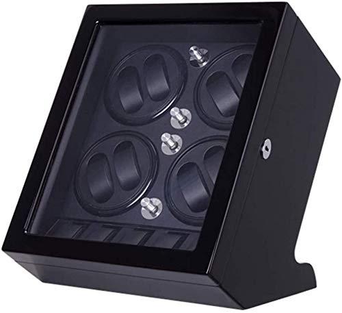 Living Equipment Remontoir de montre automatique en bois pour 8 montres mécaniques et 5 montres Position de rangement Peinture de piano et moteur muet 5 modes de rotation_black Remontoir de montre