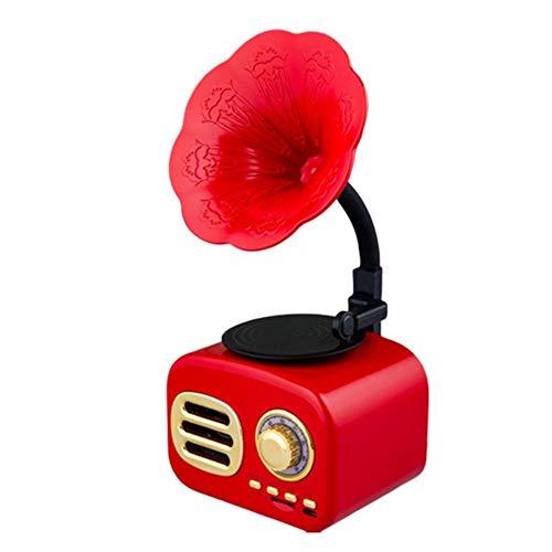 Lautsprecher, Retro Holz Tragbare Mini-Bluetooth-Lautsprecher Drahtloser Lautsprecher Außenlautsprecher Sound System TF Radio FM Musik Subwoofer Audio,3
