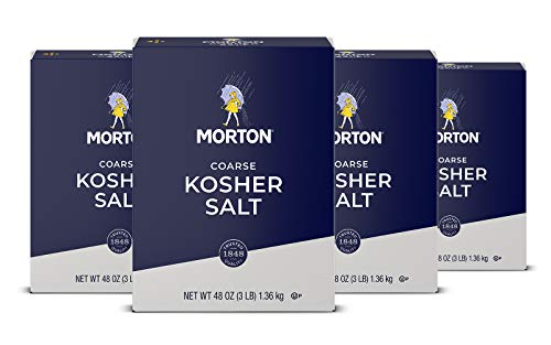 Morton Salt Kosher Salt Coarse 3 Pound Pack of 4