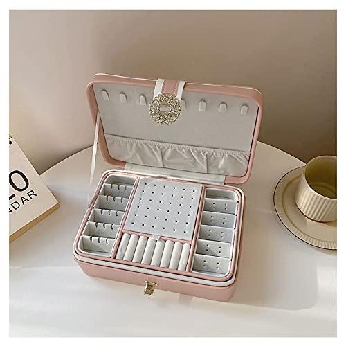 OMIDM Jewelry Box, Organizer Superior Práctico para Collares Pendientes Anillos Soportes Soportes Organización De Almacenamiento, Tamaño Plano De Ahorro De Espacio (Color : B)