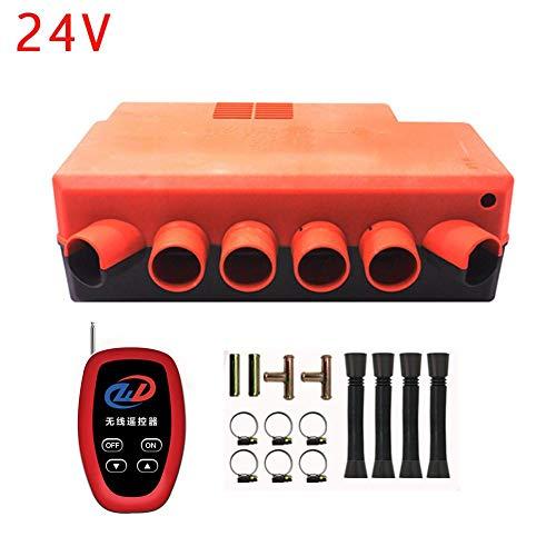 Rubyu 12 V/24 V bilvärmare 6 hål diesel luftvärmare billuftvärmare med fjärrkontroll för bilar, bussar, husbilar