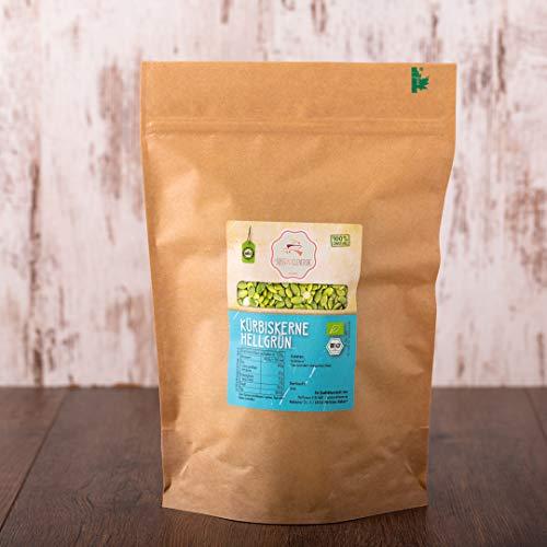 süssundclever.de® geschälte Bio Kürbiskerne | Shine Skin | 1 kg | Premium Qualität | naturbelassen | plastikfrei und ökologisch-nachhaltig abgepackt