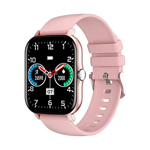 JXFF Women's Damen KT48 Sportuhr Bluetooth Music Smartwatch Herren DIY Dial Full Touch Screen 1.7 Zoll Für Android IOS,D