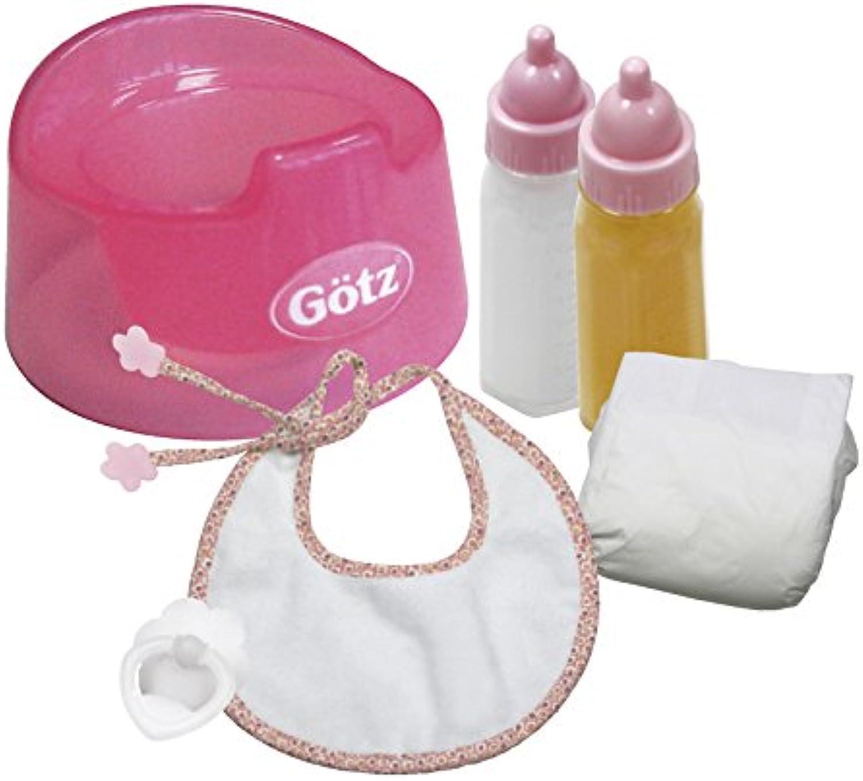 Gtz 3401935 Babypuppen Basic Care Set - 7-teilige Grundausstattung als Zubehr-Set für Puppen der Gren S (30 - 33 cm) und M (42 - 46 cm)