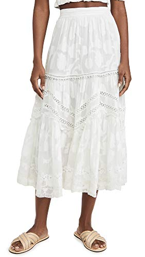 Hemant and Nandita Women's Midi Skirt, Off White, X-Large