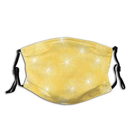 MeiMei2 Gesichtsmasken für Erwachsene, Löwenzahn, große Eigelb-Gesichtsbedeckungen...