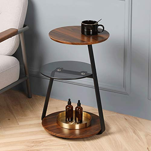Kays Side Table Coffee Table End Table Coffee Table 3-Shelf Tea Table Lift-Top Side Table Iron Art End Table Round Easy to Assemble Sofa Table Metal Frame Snack Table
