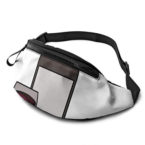 PULLA Riñonera Deportivo Bolso Cintura Cinturón Ajustable Running Belt Bolsa de Correr Botella de Jugo de UVA Morada