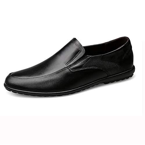 GPF-fei multifunctionele schoenen, voor heren, Spaanse mocassins, antislip, platte schoenen, voor alle seizoenen, zwart, maat 45