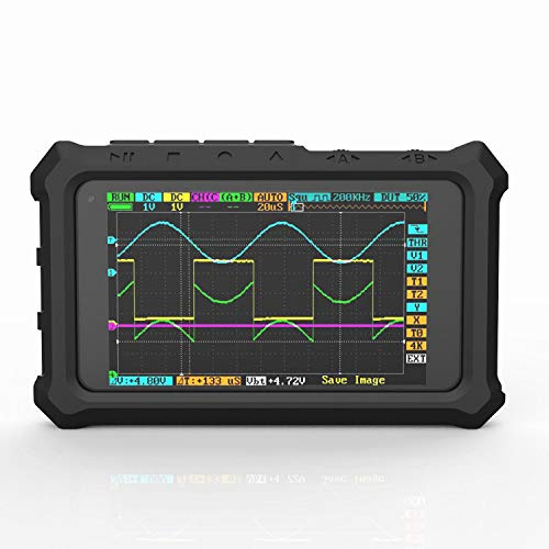 Luntus Rubber Protective Case For Ds213 Dso213 Ds203 Dso230 Oscilloscope(Black)