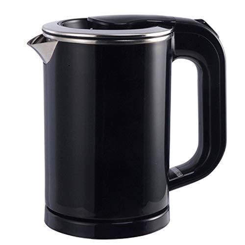LLDKA Wasserkocher Porridge Nudel Kocher Tasse Heizung Edelstahl Teekanne Kessel Wasserkocher Reisen Warmwasser Heizung Topf elektrische 110v-220v,Schwarz