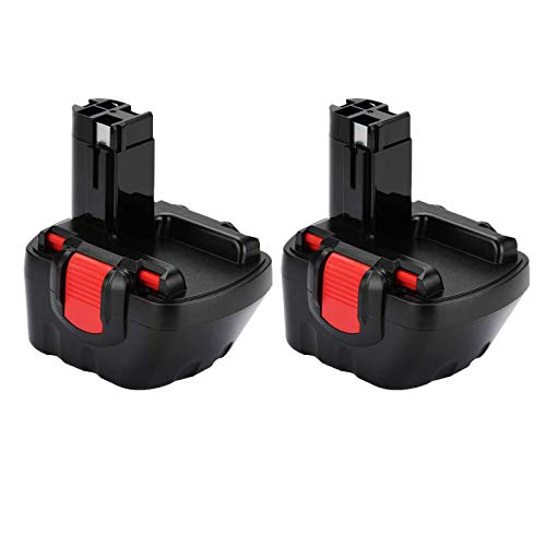 2X FUNMALL Ni-MH 12V 3000mAh Batería de Taladro para Bosch BAT043 BAT045 BAT120 BAT139 2607335542 2607335526 2607335274 2607335709 GSR 12-2 12VE-2 PSR 12 GSB 12VE-2 22612 23612 32612