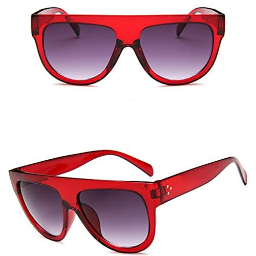 BAJIE Gafas de Sol Gafas de Sol Mujer Oversized Flat Top Designer Gafas de Sol para Mujer Gafas de Sol para Mujer Mujer