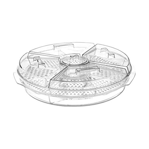 Chef's Star D'oeuvres Appetizer Server - Keeps Appetizers On Ice - Lids and Removable Dip Cup Included