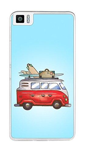 Tumundosmartphone Funda Gel TPU para BQ AQUARIS M5.5 diseño Furgoneta Dibujos