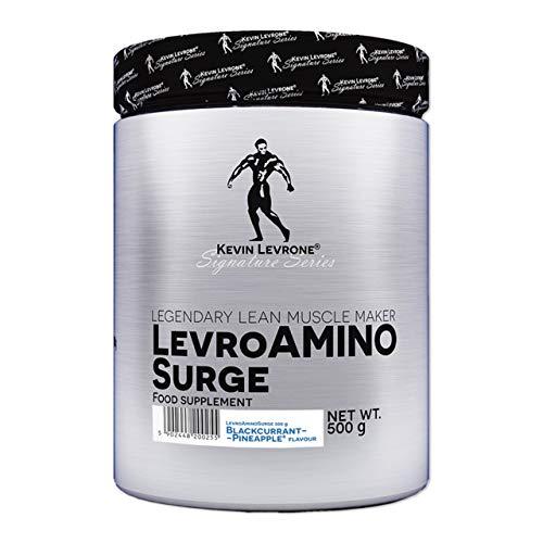 Kevin Levrone Amino Surge Paquete de 1 x 500g - Aminoácidos - BCAA y EAA - Leucina - Isoleucina - Valina y Glutamina - Suplemento para la Regeneración Muscular (Blackcurrant Pineapple)