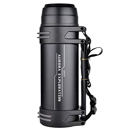 T-XYD Draagbare thermos, grote capaciteit, geïsoleerde thermoskan, 2,2 liter/3 liter, dubbellaags, 48 uur warmhouvast, roestvrij staal, voor op reis, camping, outdoorsports