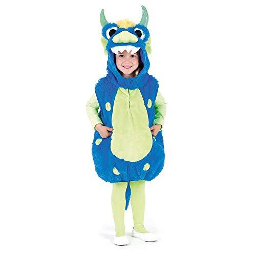 WOOOOZY Kinder-Kostüm Weste Monster blau, Gr. 104-110