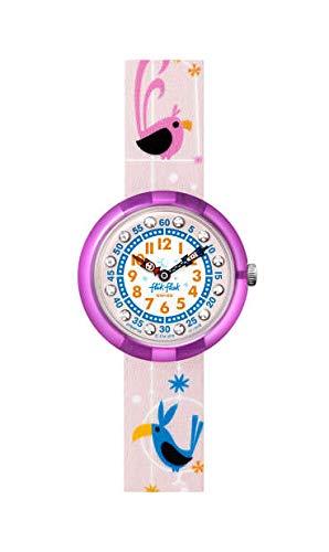 Flik Flak Mädchen Analog Quarz Uhr mit Textil Armband FPNP126