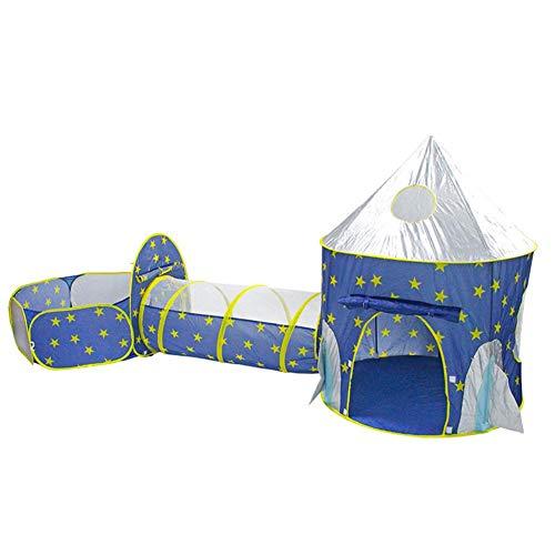 househome - Tienda de campaña 3 en 1, túnel para niños pop up, túnel para piscina con bolas, con túnel, casa de juguete y piscina fácil plegable (sin balón)