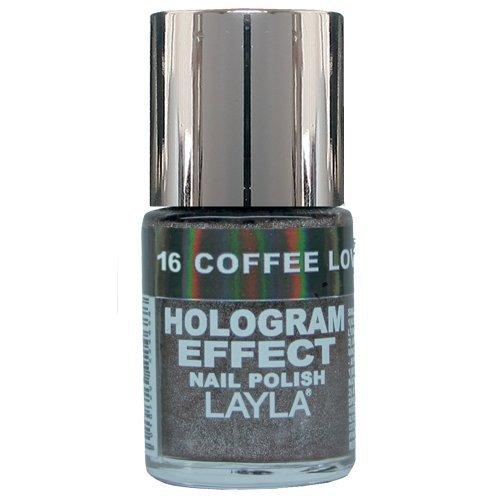 Layla Cosmetics Hologram Effect Nagellack - coffe love, 1er pack (1 x 0.01 l)